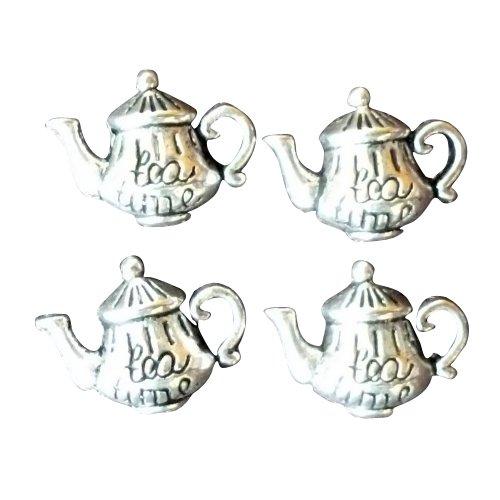 4 Pcs Alice in Wonderland Steampunk Antique Silver Tibetan Tea pot Jewelry Findings Mix Lot 71