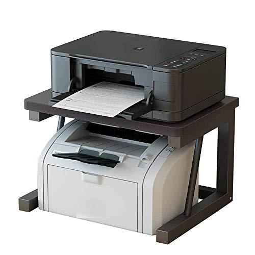 Storage Rack Desktop Printer Stand, Double-Layer Multifunctional Desktop Simple, Wooden Desktop File Manager for Home Office, Scanner Shelf Organizer, Kitchen Oven Microwave Stand ZDDAB
