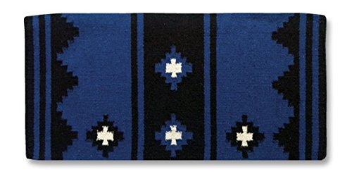 Mayatex Apache Saddle Blanket, Royal/Black/White, 36 for sale  Delivered anywhere in USA