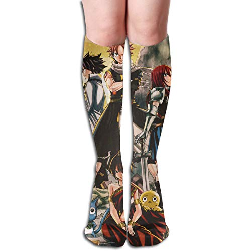 CNJELLAW Fairy-Tail Beneath Knee Stockings Vintage Long Tube Socks Crew Socks for -