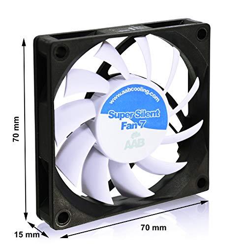 AAB Cooling Super Silent Fan 7 - un silencioso y muy efectivo 70mm ventilador con 4 bases antivibración: Amazon.es: Informática
