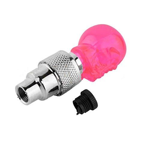 Orcbee  _2Pcs Skull Shape Valve Cap LED Light Wheel Tyre Lamp for Car Motorbike Bike (Red)]()
