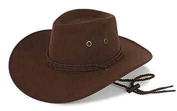 6c089ab326890 Sombrero Vaquero Hombre Adulto Panama Chocolate Ante Rancho  Amazon.es   Deportes y aire libre
