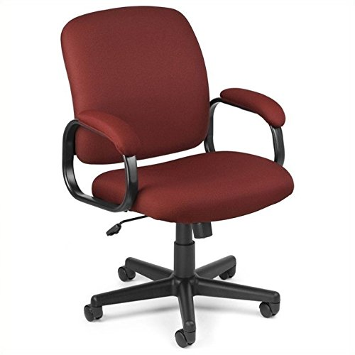 OFM Value Series Executive Task Chair - Low-Back Fabric Office Chair, Wine (660-803) 803 Wine