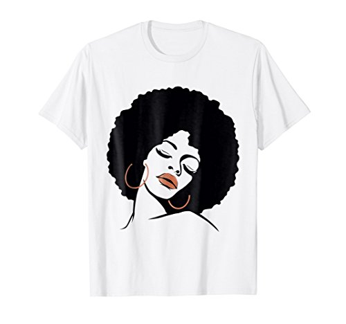 Black Girl Magic Shirt Natural Hair Afro Rose Gold Red Lips