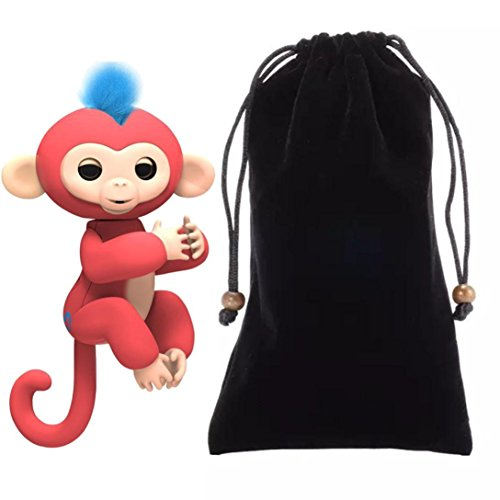 Price comparison product image For Fingerlings Monkey,Sunfei Dolls Portable Kids Play Storage Bag Toys Rug Box For Fingerlings Monkey (Black)