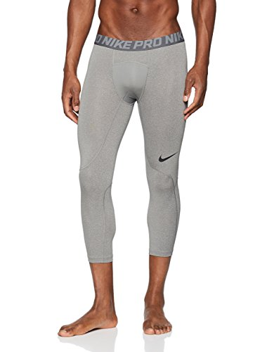 Nike Tight Pro Winter - Nike Men's Pro 3qt Tight (Carbon Heather/Dark Grey/Black, Large)