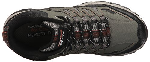 Skechers Sport Herren Afterburn Fit Mid Oxford, Olive / Schwarz