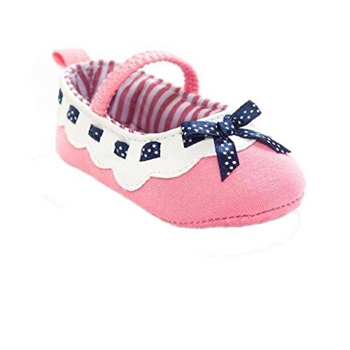 Bebé Prewalker Zapatos Auxma Baby Girl Bowknot Zapatos,Zapatillas antideslizantes suaves zapatos para niños pequeños para 0-6 6-12 12-18 meses Rosado