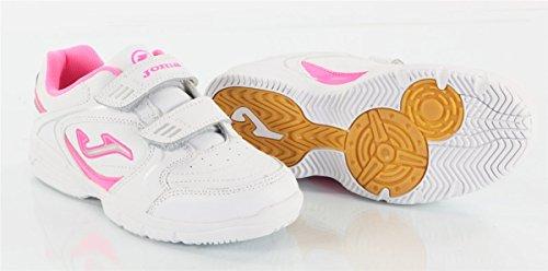 Joma Mädchen / Kinder Sportschuh / Turnschuh / Freizeitschuh / Sneaker School, Gr. 30 (UK 12/US 13C/CM 18.5), weiss/pink, W.SCHOW-413, Velcro Klettverschluss