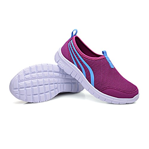 Deer Men&womens Mesh Shoes,Outdoor,Running,Walking,Hiking,Sneakers Purple