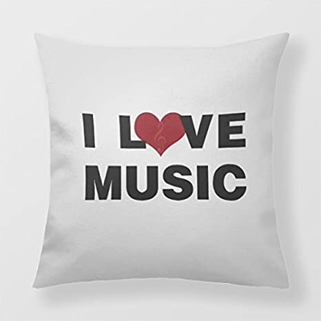 Lightinglife Decorative Cushion For Sofa Musical Student Home Decor Pillow Love 16 X 16 Throw Pillow BEISI xdq