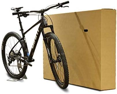 Caja de cartón para bicicleta, embalaje de doble pared para embalar, almacenar y enviar, con asas, incluye envoltorio de burbujas y cinta, 147 x 22 x 90 cm: Amazon.es: Oficina y papelería