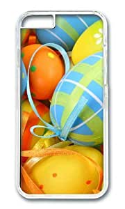 MOKSHOP Adorable Easter Egg Decorations Hard Case Protective Shell Cell Phone Cover For Apple Iphone 6 Plus (5.5 Inch) - PC Transparent