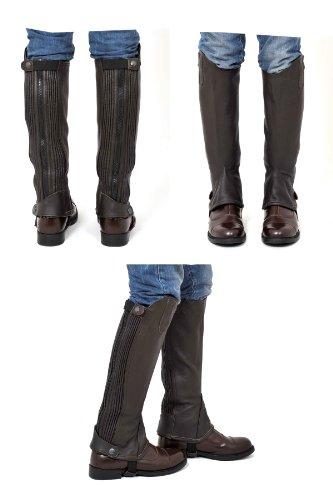 Riders Trend Full Grain Leather Gaiter - marrón