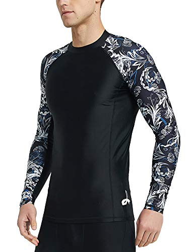 LAFROI Men's Long Sleeve UPF 50+ Baselayer Skins Compression Rash Guard (Vital, MD)