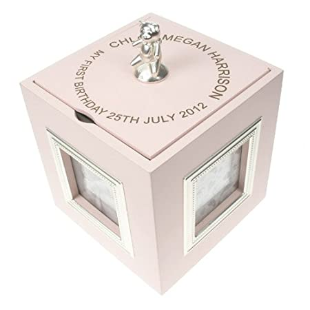 First Birthday Pink Musical Keepsake Box With Photo Frames For Girls 1st Gifts Amazoncouk Kitchen