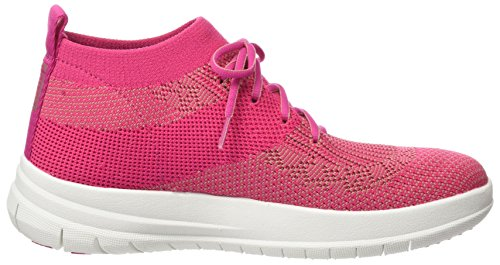Top High 561 Alto Donna Multicolore Slip Sneaker on Pink Uberknit Collo Dusky Fuchsia Fitflop a 6twIa1