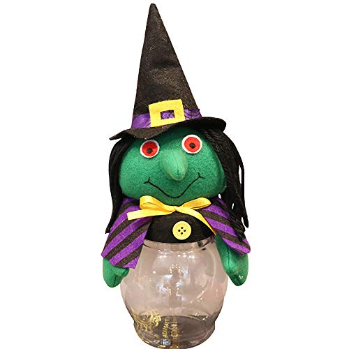 Gbell Kids Toddler Boys Girls Pumpkin Halloween Transparent Candy Jar Toy Gifts, Halloween Decorated with Candy Boxes Decorations (A) for $<!--$1.79-->