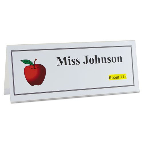 C-Line Inkjet/Laser Name Tent Holders, 11 1/5'' x 4 3/10'', Clear, Box of 25 by C-Line