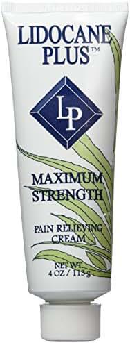 Lidocane Plus with Lidocaine 4% Pain Relieving Cream, 4 Oz