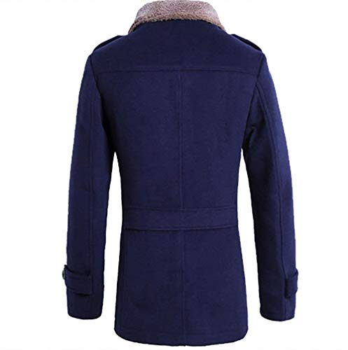 Thick Vintage Marine Men's Coat Slim Fashion Huixin Apparel Sleeve Collar Warm Winter Outerwear Winter Fit Coat Jacket Jackets Long Stand Jacket CwWv6Rq