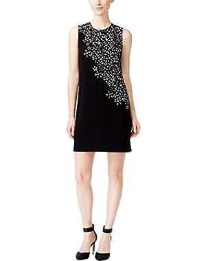 Womens Knit Laser Cut Wear to Work Dress