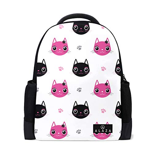Cat Shoes Deterrent Backpack Lightweight School Backpack, Classic Basic Casual Backpack, Travel with Bottle Side - Canine Backpack Hoodie Casual