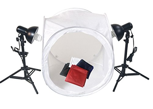 ePhotoInc Photo Studio 24'' Photo Studio Photography Light Tent Backdrop Kit with Lighting Kit 24Kit by ePhotoinc