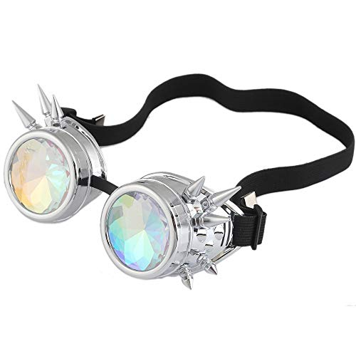 iNoDoZ Steampunk Colorful Glasses Rave Festival Party Eyewear EDM Sunglasses Diffracted Lens