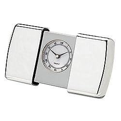 Silver Sliding Case Alarm Clock by Orton West