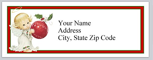 120 Personalized Return Address Labels Angel Christmas (bx 117) - Angel Personalized Address Labels
