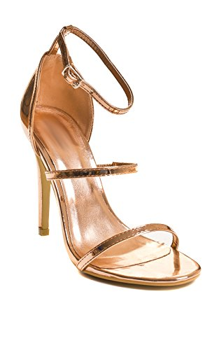 Ikrush Gold De Alto Zapatos Womens Tacón Rose Fiesta Honor x4ZxO