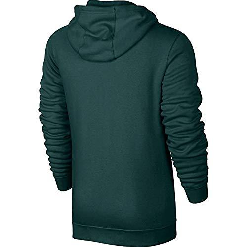 Nike Club Fleece Men's Sportswear Full Zip Hoodie Green/White 804389-375 (Size -