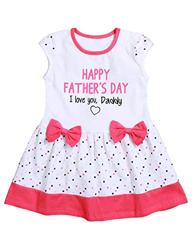 Happy Father's Day Letter Printing Slelveless Skirt Baby Girl Outfit Summer Infant Bow Dress Newborn Skirt Clothes 18-24Months - Baby Girl Happy