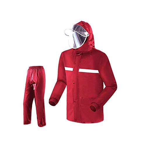 Big rouge Suit grand Goquik VêteHommests Imperméables Imperméable imperméable Split Costume imperméable Pantalon de Pluie imperméable Unisexe Vestes Coupe-Pluie (Couleur   noir Suit, Taille   XXXXL)