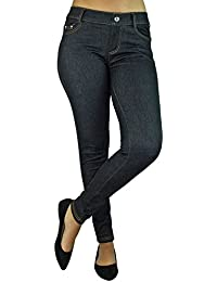 Stretchy Jean Leggings With Pockets