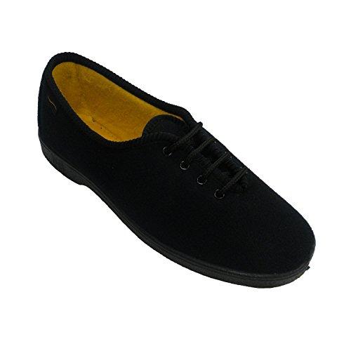 Chaussure Cutillas En Doctor Femme De Âgée Personne Noir Lacets tzPHq