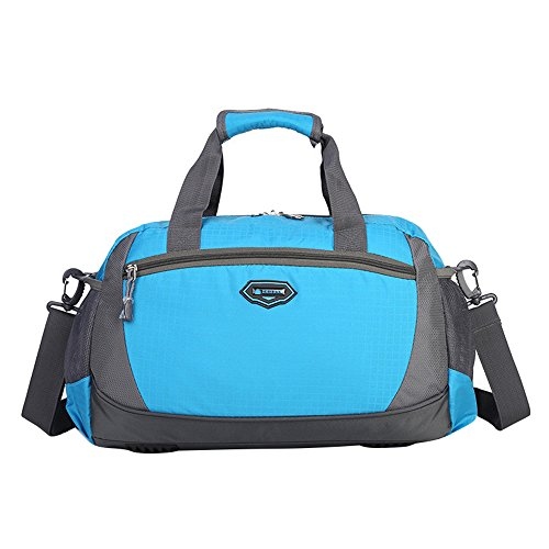 Travel Sports Nylon Gym amp; Vacation Leisure Adanina Lightweight For Luggage Bag Waterproof Blue YAZUq