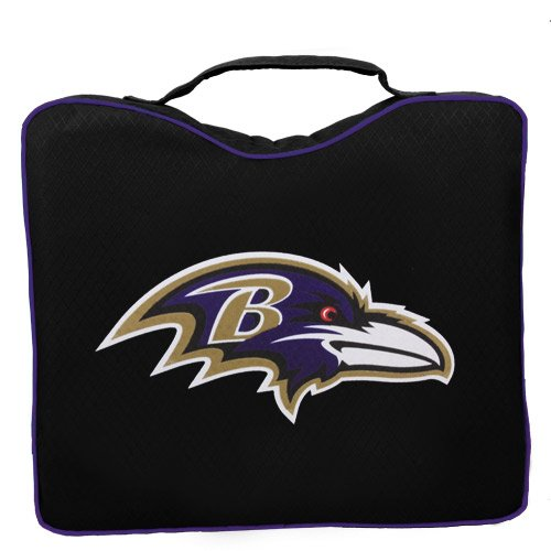 NFL Lightweight Stadium Bleacher Seat Cushion with Carrying Strap, Baltimore Ravens