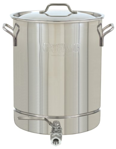 Bayou Classic 1064 Stainless 16-Gallon Stockpot with Spigot and Vented Lid ()
