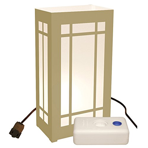 LumaBase 61610 10 Count Gold Lantern Electric Luminaria Kit with LumaBases by Lumabase