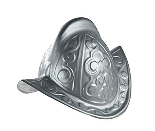 Jacobson Hat Company Adult Plastic Conquistador Costume Helmet Silver]()