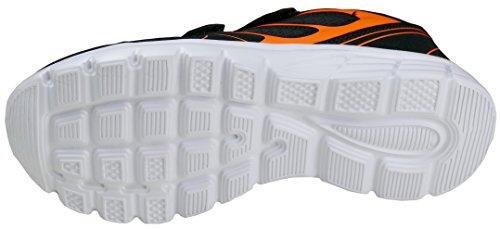 Donna Gibra Sneaker arancione Fluo Nero 5wqFxqr7X