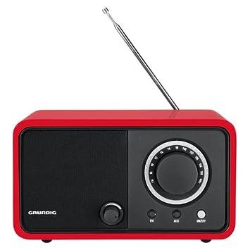 Radio de mesa TR 1200 de Grundig (FM, entrada auxiliar) rojo ...
