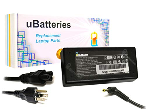 UBatteries Compatible 19V 2.37A 45W AC Adapter Replacement F