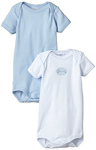 Petit Bateau Baby Boys' 2-pk S/S Bodysuits - Blue/White - 24 Months