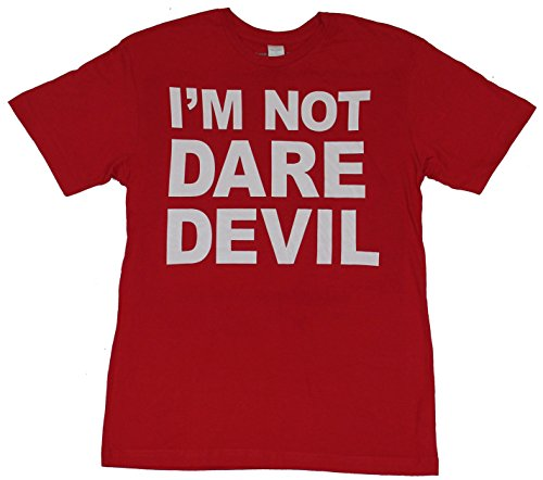 Daredevil (Marvel Comics) Mens T-Shirt - I'm Not Daredevil Block Letter Image