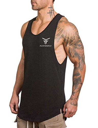 FLYFIREFLY Men's Gym Tank Tops Bodybuilding Fitness Vest Top