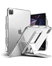 Ringke Fusion with Outstanding [Combo Pack] Back iPad Pro 11 Inch (ALL GEN 2021 2020/2018) Case with Overcharge Protection Pencil Holder, Stand Spring-Action Kickstand - (clear)